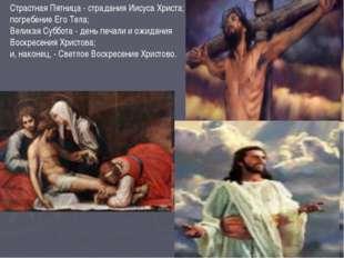 Страстная Пятница - страдания Иисуса Христа; погребение Его Тела; Велика