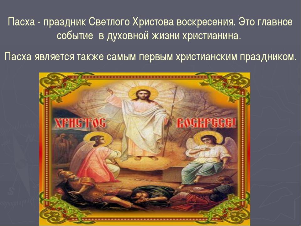 Пасха - праздник Светлого Христова воскресения. Это главное событие в духовно...