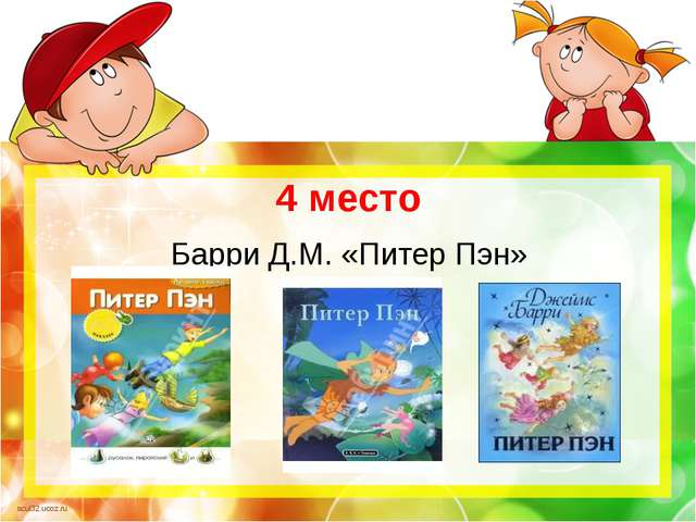 4 место Барри Д.М. «Питер Пэн» scul32.ucoz.ru