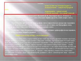 Слово-Дерево Замечательный знаток начального обучения Д. И. Тихомиров писал: