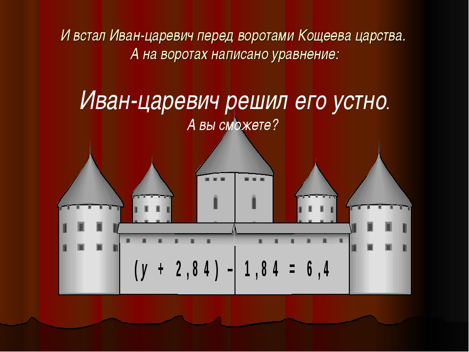 И встал Иван-царевич перед воротами Кощеева царства. А на воротах написано ур...