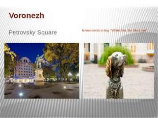"Voronezh Petrovsky Square Monument to a dog ""White Bim, the Black ear""."