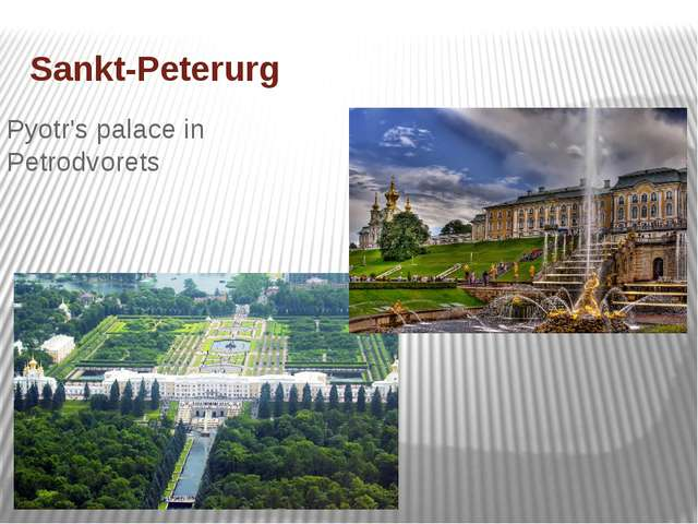 Sankt-Peterurg Pyotr's palace in Petrodvorets