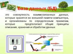 База данных (БД) – это совокупность взаимосвязанных данных, которые хранятся