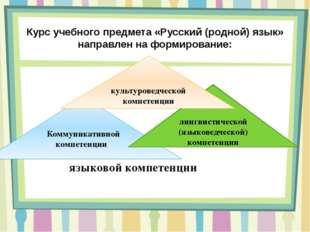 Курс учебного предмета «Русский (родной) язык» направлен на формирование: Ком