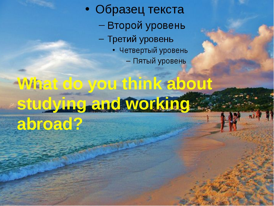 What do you think about studying and working abroad?