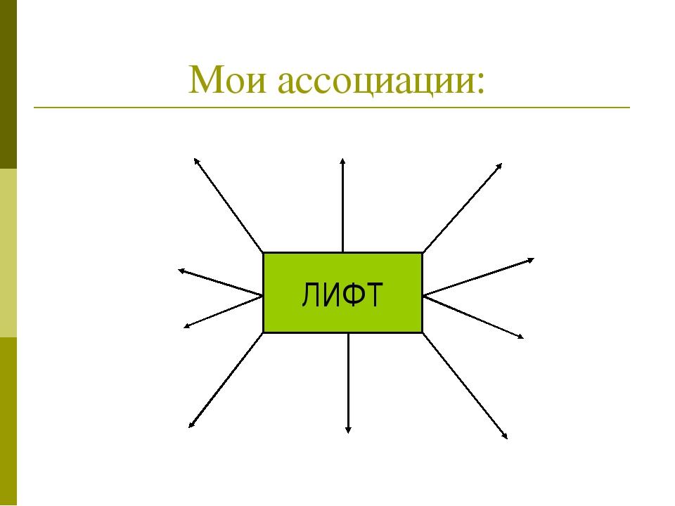 ЛИФТ Мои ассоциации:
