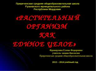 Приреченская средняя общеобразовательная школа Рузаевского муниципального рай