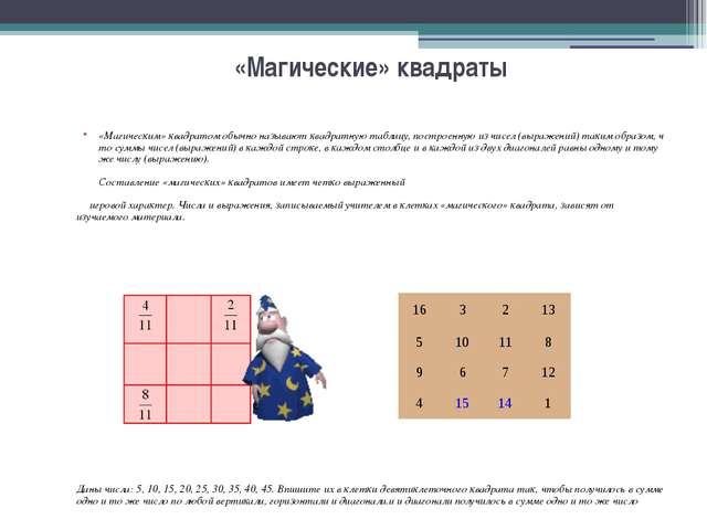 Игры для закрепления правил и выработки навыков выполнения арифметических дей...