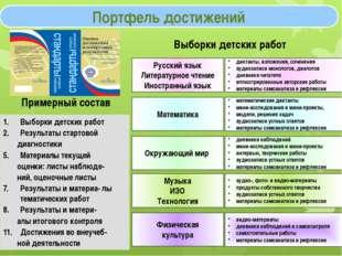 Портфель достижений Русский язык Литературное чтение Иностранный язык диктант