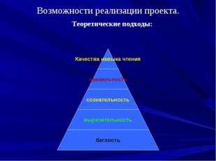 Возможности реализации проекта. Теоретические подходы: