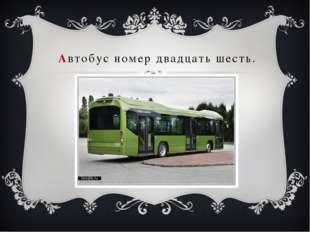 Автобус номер двадцать шесть.