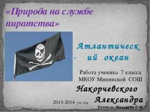 Атлантический океан «Природа на службе пиратства» Работа ученика 7 класса МКО