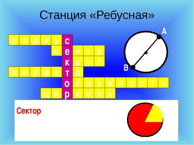 Станция «Ребусная» р а д и у ц н с р е о т к т р р у г р е м а р к д и с о н...