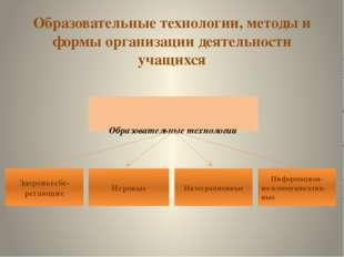 Образовательные технологии, методы и формы организации деятельности учащихся