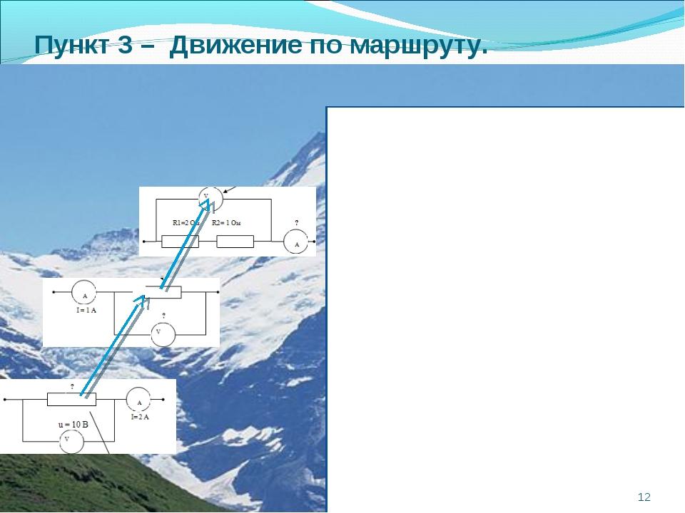 Пункт 3 – Движение по маршруту. *
