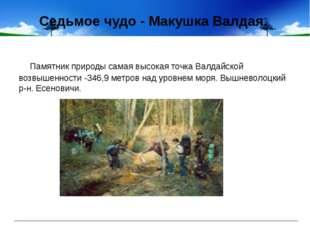 Седьмое чудо - Макушка Валдая. Памятник природы самая высокая точка Валдайско