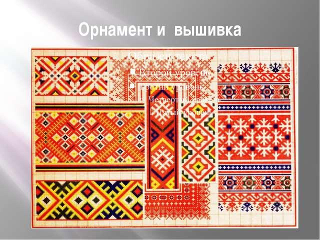Орнамент и вышивка