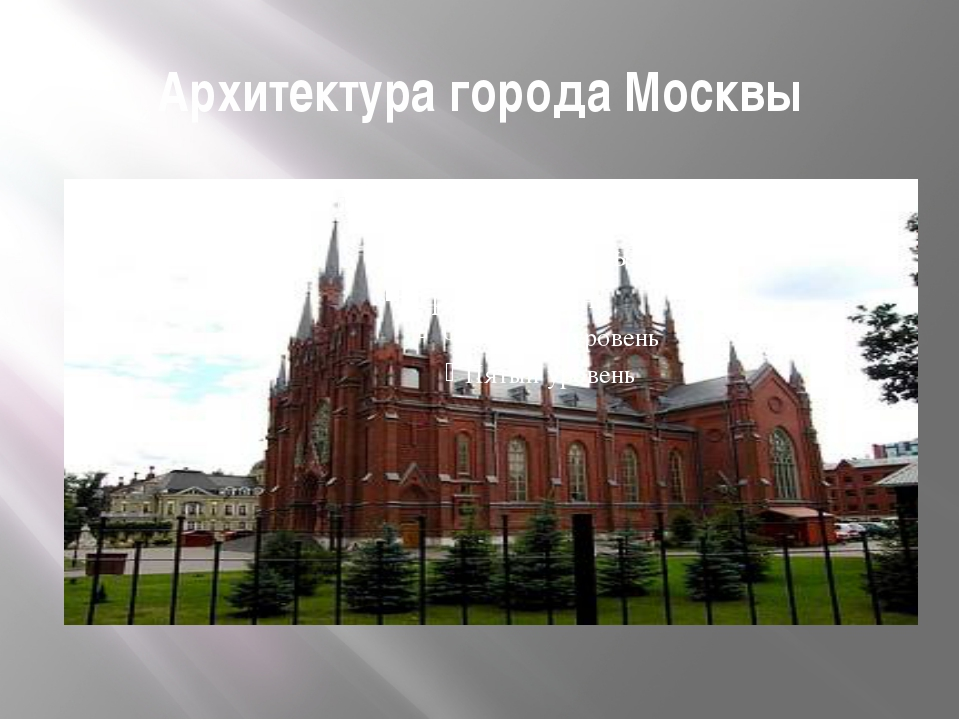 Архитектура города Москвы
