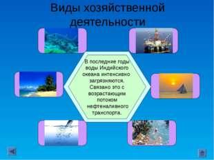 Виды хозяйственной деятельности Рыбный промысел океана невелик: уловы здесь с