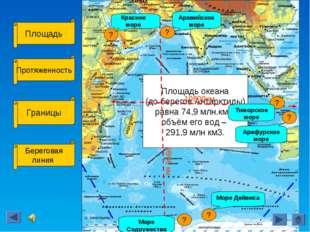 Площадь Протяженность Границы Береговая линия Площадь океана (до берегов Анта