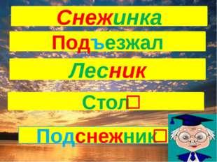 Подъезжал Лесник Снежинка Стол Подснежник
