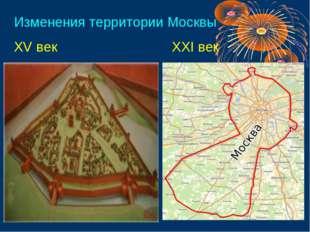 Изменения территории Москвы XV век XXI век