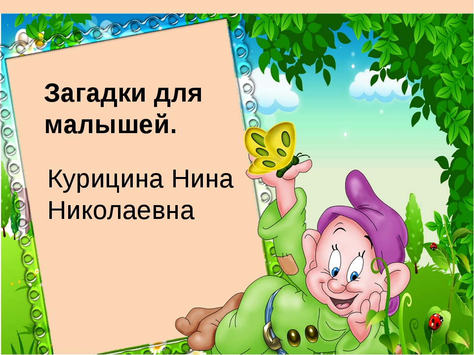 Загадки для малышей. Курицина Нина Николаевна