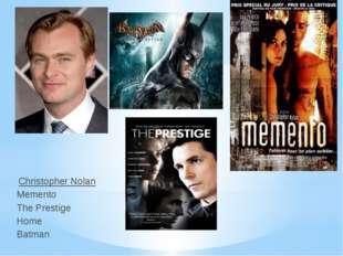Christopher Nolan Memento The Prestige Home Batman