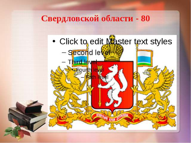 Свердловской области - 80