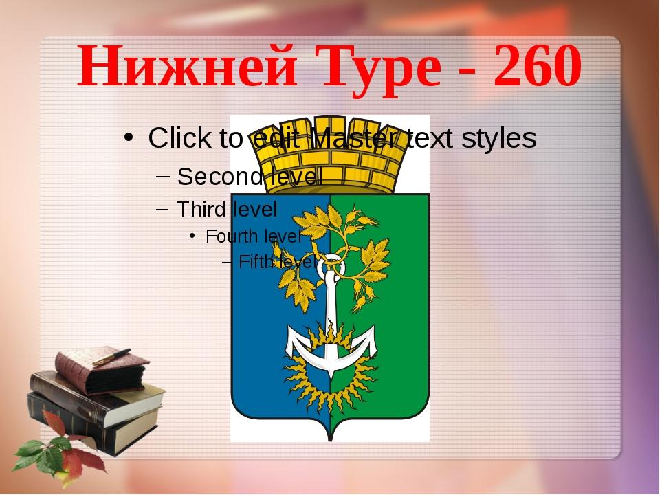 Нижней Туре - 260