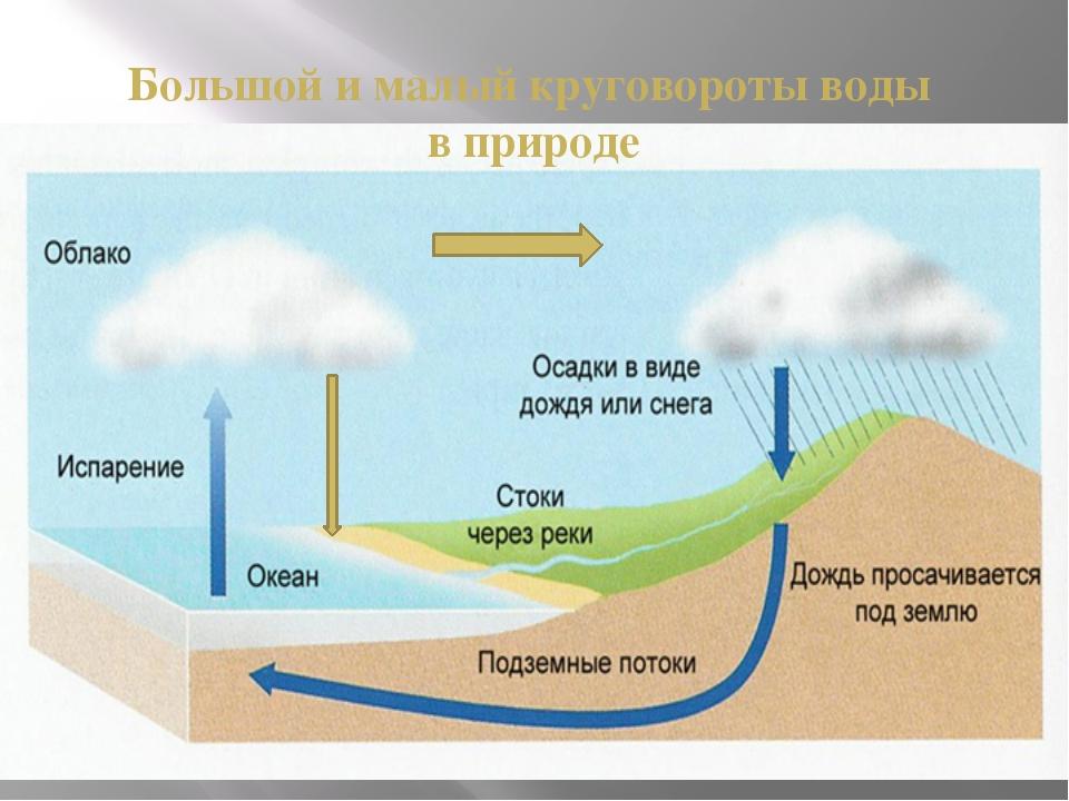 Большой и малый круговороты воды в природе