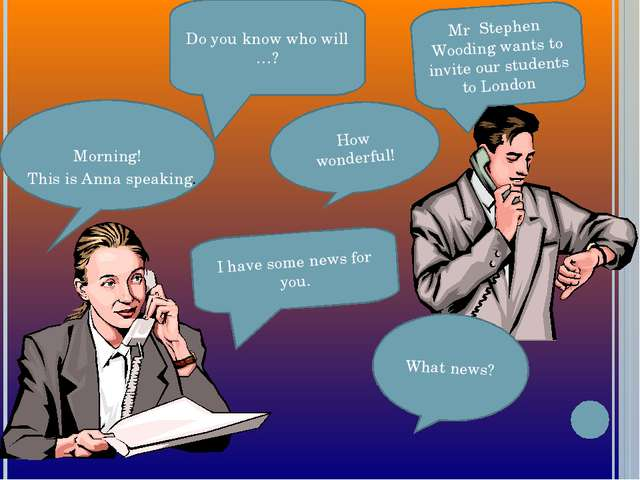 Do you know who will …? Mr Stephen Wooding wants to invite our students to Lo...