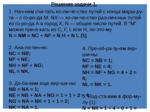 Задача 2. На рисунке – схема дорог, связывающих города А, Б, В, Г, Д