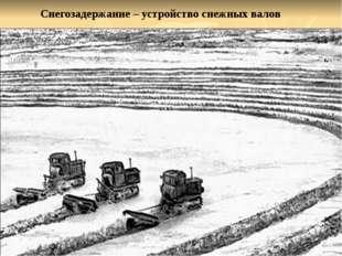 Снегозадержание – устройство снежных валов