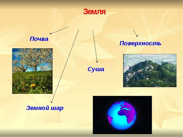 Земля Почва Поверхность Суша Земной шар