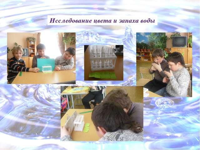Исследование цвета и запаха воды