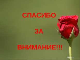СПАСИБО ЗА ВНИМАНИЕ!!! Page