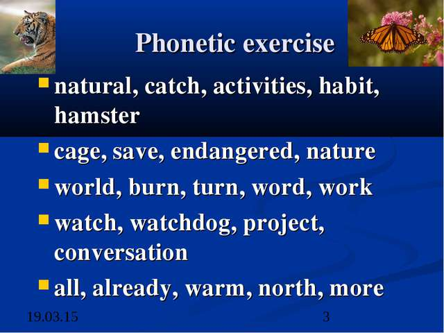 Phonetic exercise natural, catch, activities, habit, hamster cage, save, enda...