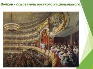 Федор Волков - основатель русского национального театра