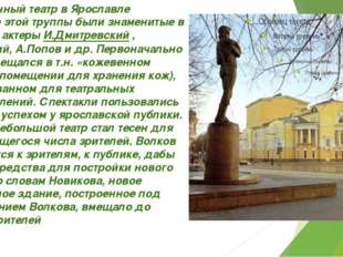Современный театр в Ярославле В составе этой труппы были знаменитые в будущем