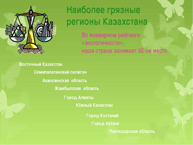 Наиболее грязные регионы Казахстана Восточный Казахстан Семипалатинский полиг...