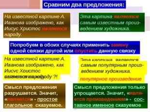 Сравним два предложения: На известной картине А. Иванова изображено, как Иису