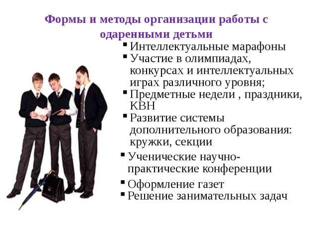 Формы и методы организации работы с одаренными детьми Оформление газет Решени...