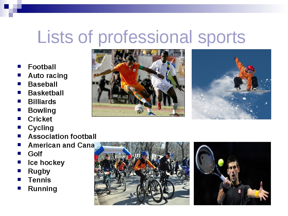 Lists of professional sports Football Auto racing Baseball Basketball Billia...