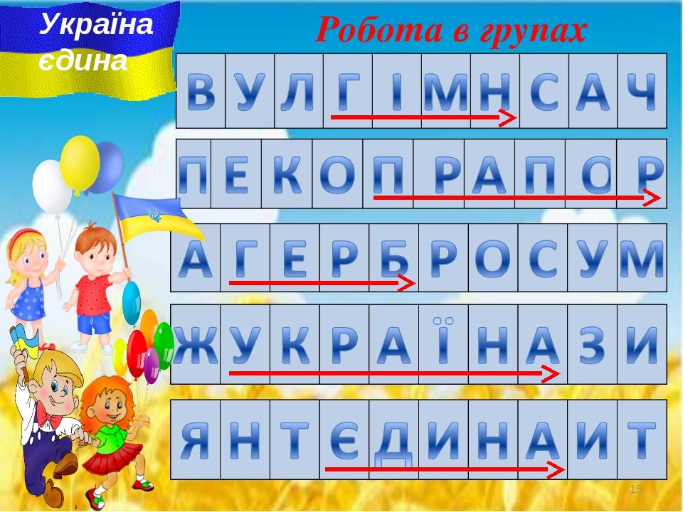 Робота в групах Україна єдина *