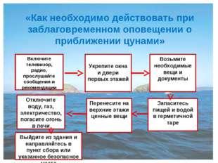 «Как необходимо действовать при заблаговременном оповещении о приближении цун