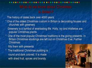 What do we know about Christmas in Britain? The history of dates back over 40