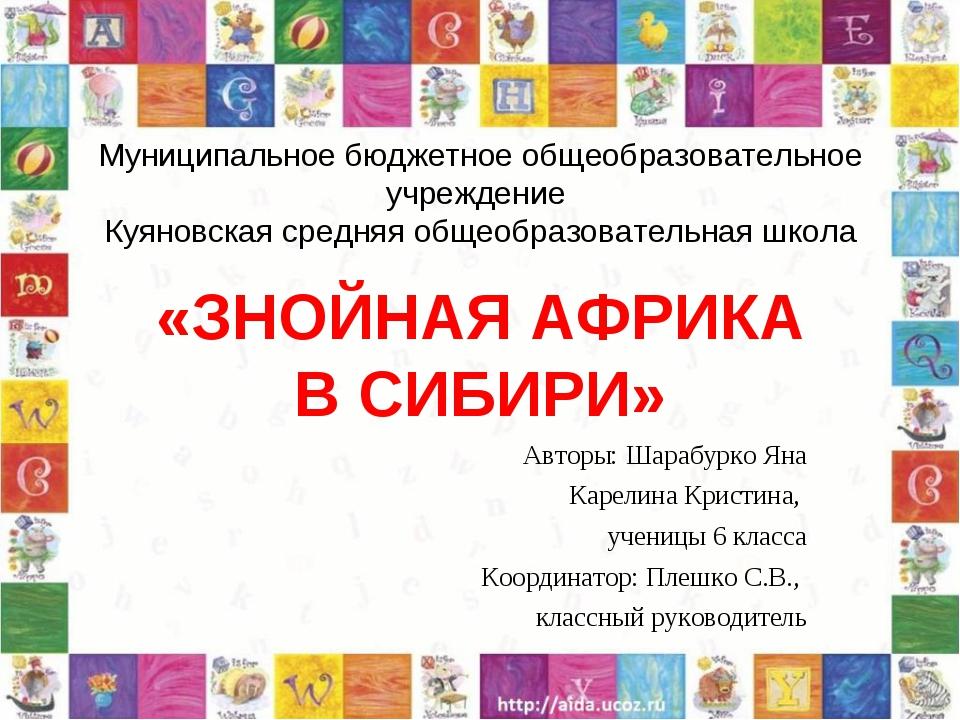 Муниципальное бюджетное общеобразовательное учреждение Куяновская средняя общ...
