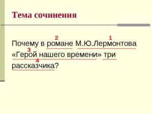 Тема сочинения Почему в романе М.Ю.Лермонтова «Герой нашего времени» три расс